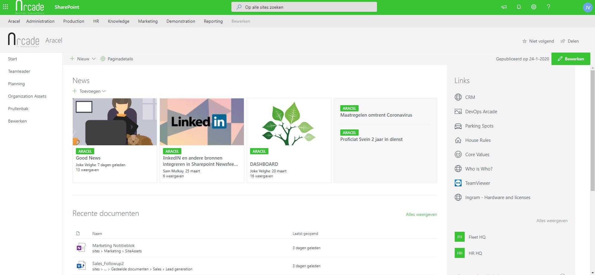 Mirosoft Sharepoint to share documents